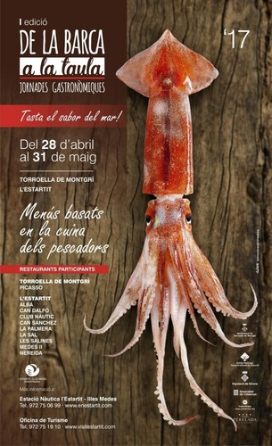"""Gastronomic days """"from the boat to the table"""" in Estartit during may"""