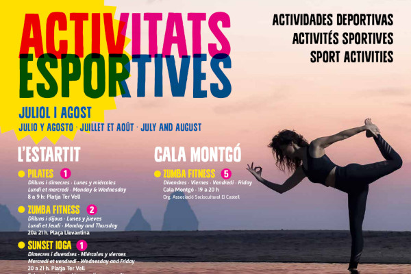 New sports activities calendar for the months of july and august – July 2019